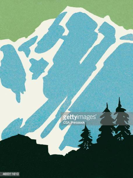 mountain - high up stock illustrations, clip art, cartoons, & icons