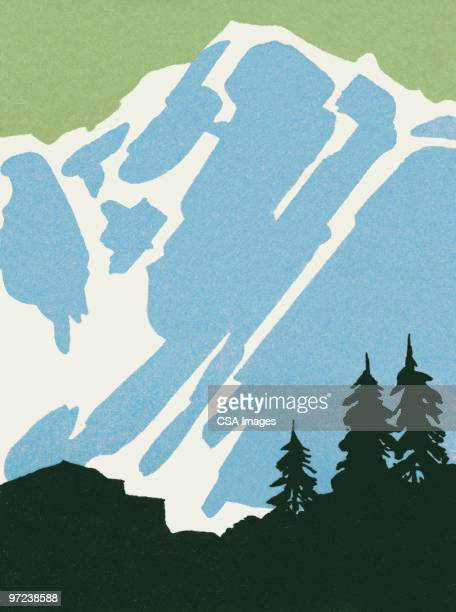 mountain - landscape stock illustrations