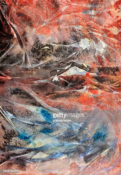 mountain lake abstract painting - grunge image technique stock illustrations
