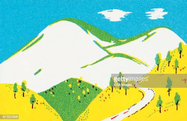 mountain pass - 道点のイラスト素材/クリップアート素材/マンガ素材/アイコン素材