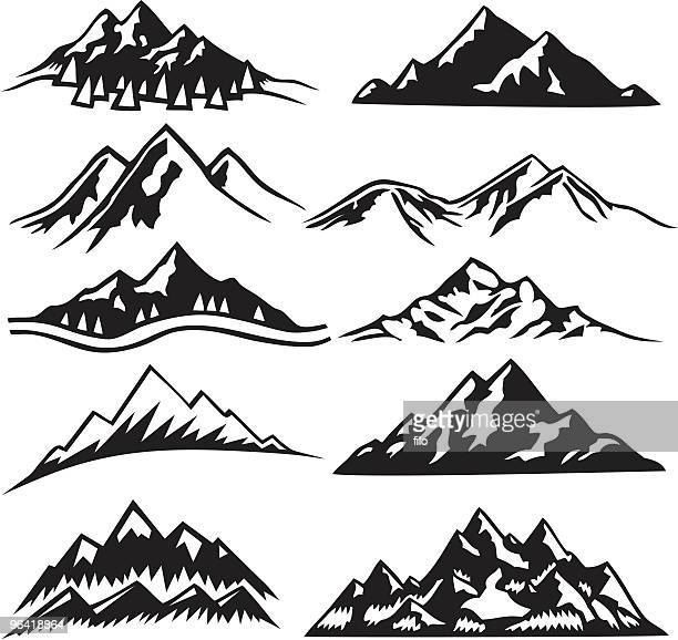mountain berge - berg stock-grafiken, -clipart, -cartoons und -symbole