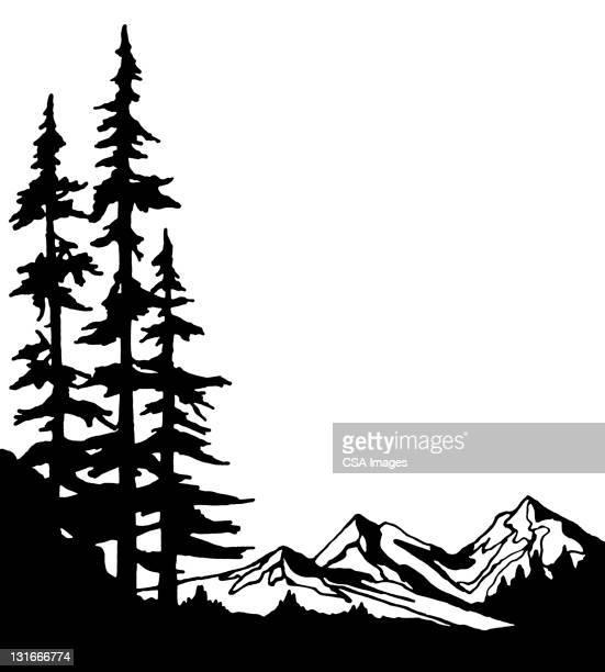 mountain view - mountain logo stock illustrations