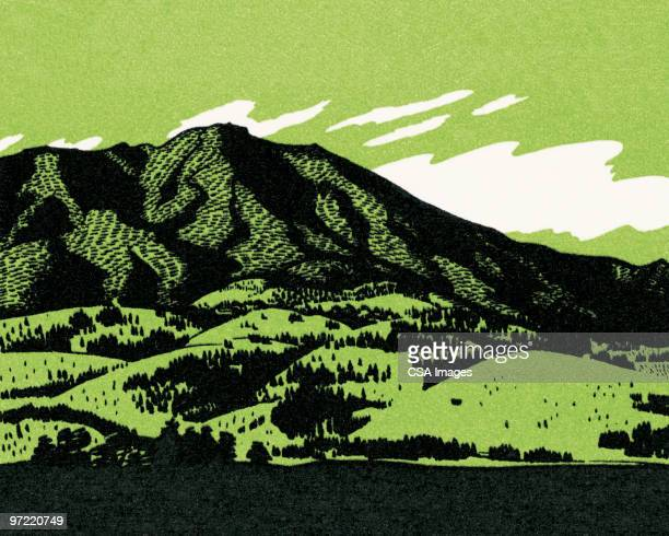 mountain view - 1990 1999 stock illustrations