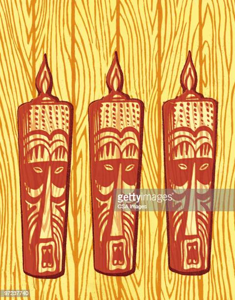 mountain view - pacific islands stock illustrations
