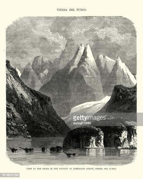 Mountains Peaks, Admiralty Strait, Tierra del Fuego