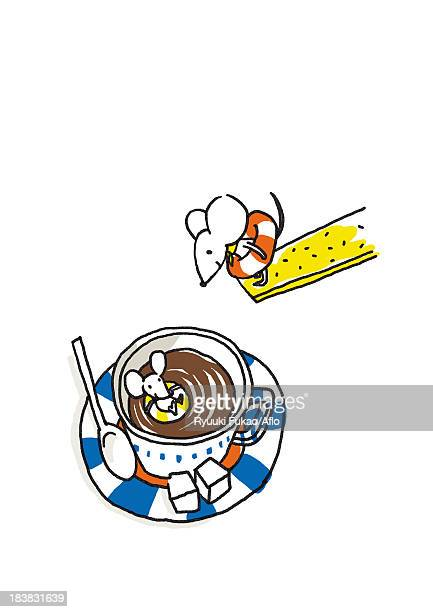 mouse illustration - sugar cube stock illustrations, clip art, cartoons, & icons