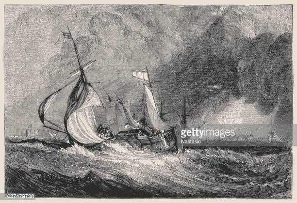 mouth of the humber (c.1825), by j.m.w. turner, - english culture stock illustrations