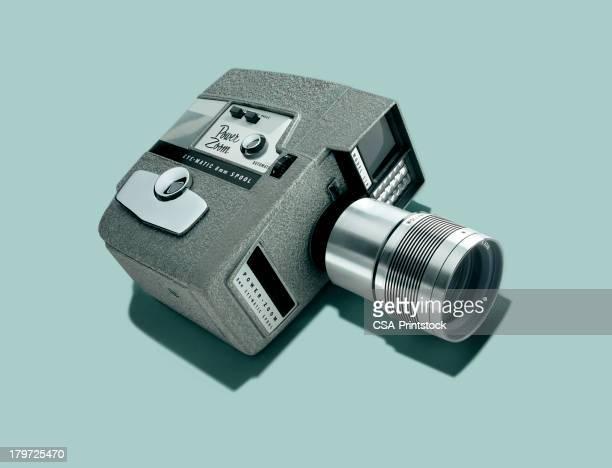 movie camera - film camera stock illustrations, clip art, cartoons, & icons