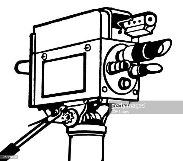 movie camera - television camera stock illustrations