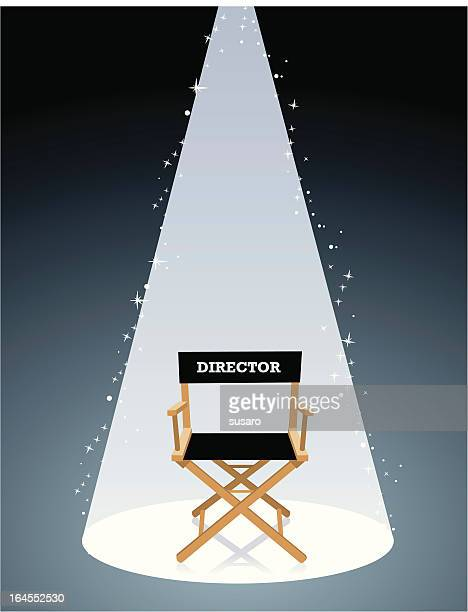 movie director chair - actor stock illustrations, clip art, cartoons, & icons