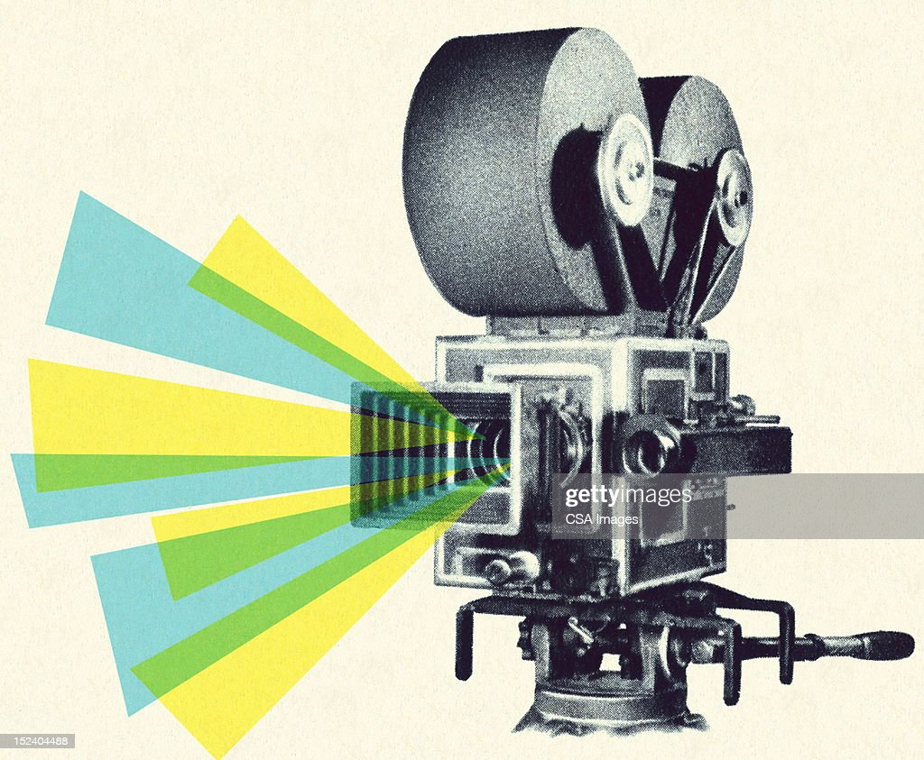 Movie Projector : stock illustration