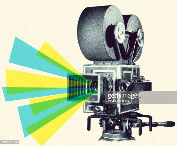 movie projector - video camera stock illustrations, clip art, cartoons, & icons