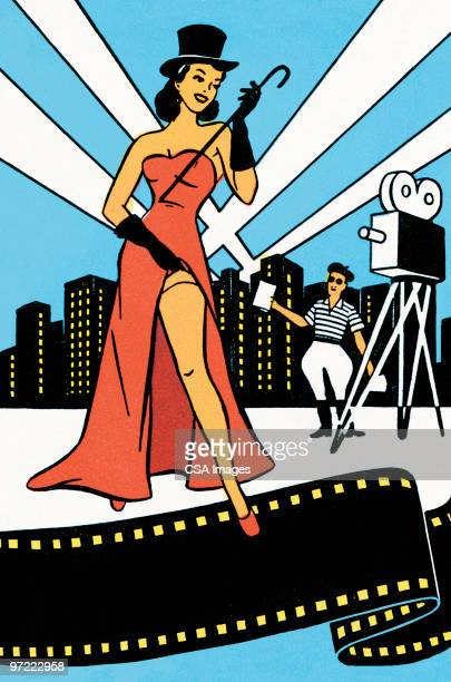 movie star - actress stock illustrations
