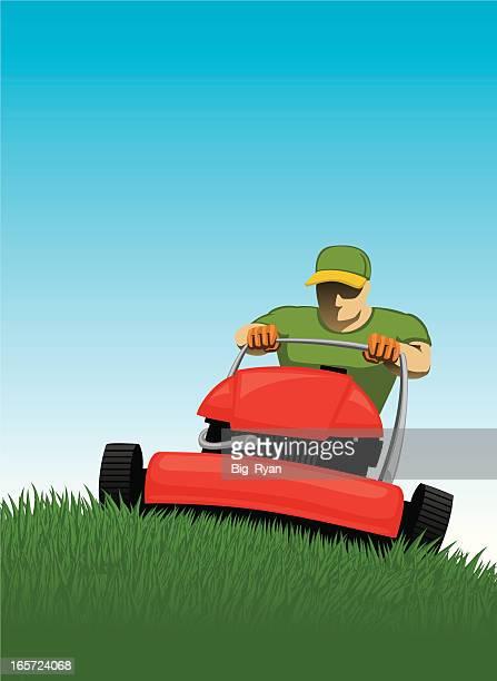 芝刈りの芝生