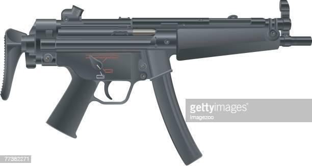 ilustraciones, imágenes clip art, dibujos animados e iconos de stock de mp-5a5 - submachine gun