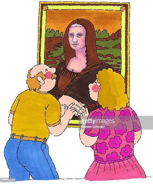 Mr. & Mrs. at the Mona Lisa