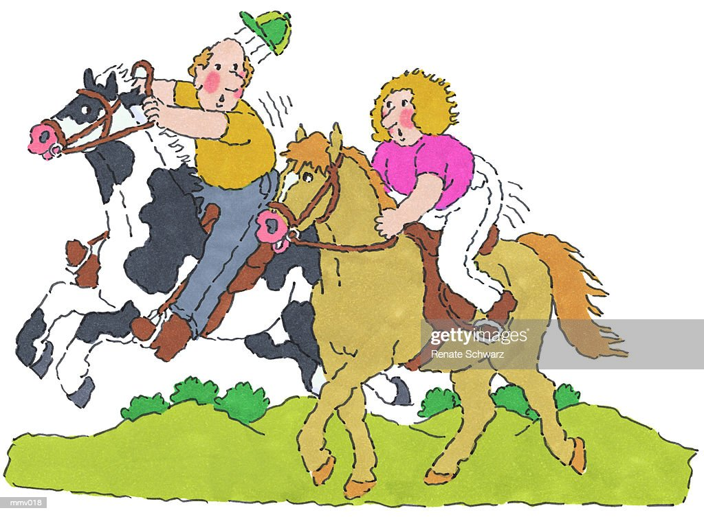Mr Mrs Horseback Riding High Res Vector Graphic Getty Images