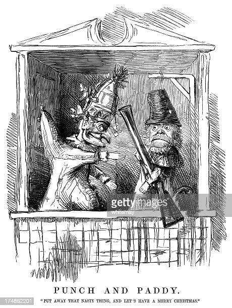 ilustraciones, imágenes clip art, dibujos animados e iconos de stock de sr. punzón de vista de la situación irlandesa - puppet
