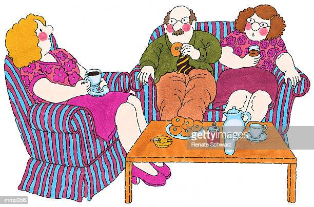 mrs. in faculty lounge - chaise stock illustrations, clip art, cartoons, & icons