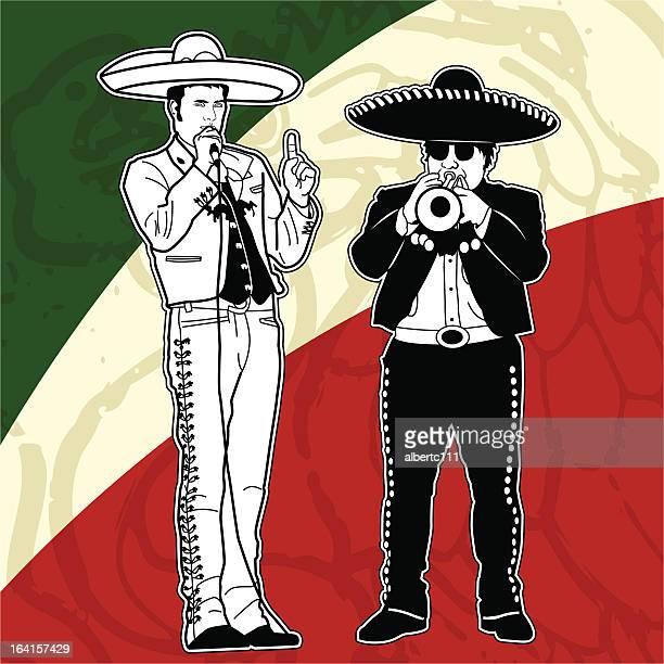mucho mariachi mundo - latin music stock illustrations, clip art, cartoons, & icons
