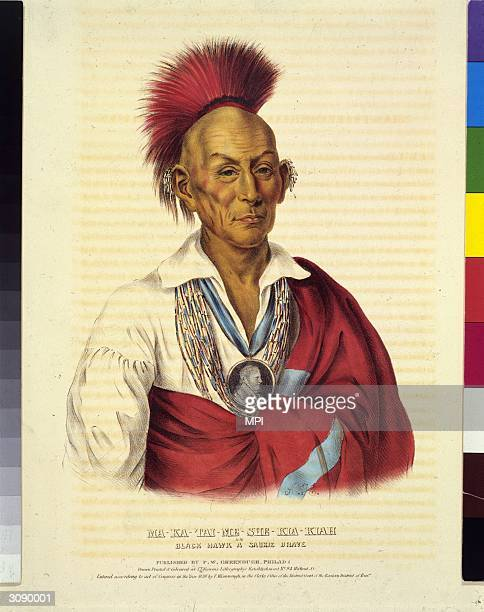 Muckatahmishokahkaik or Black Hawk a chief of the Sauk tribe He maintained trade links with the British following the War of 1812 but later initiated...