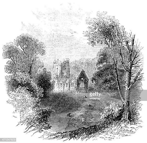 Muckross Abbey, Killarney (Victorian sketch)