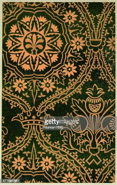 mullion pattern - 15th century - circa 15th century stock illustrations, clip art, cartoons, & icons