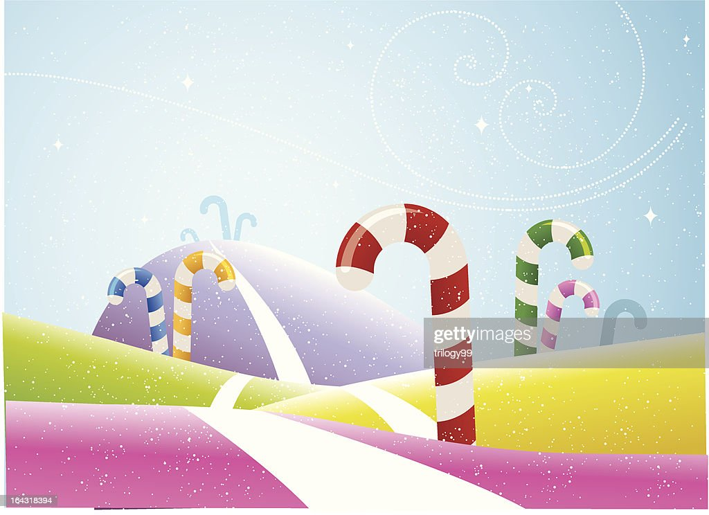 Multi Colored Candy Cane field