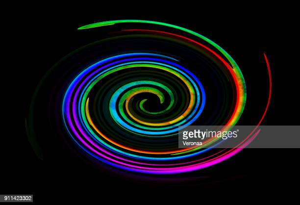 multi colored spiral over black background - cyclone stock illustrations, clip art, cartoons, & icons
