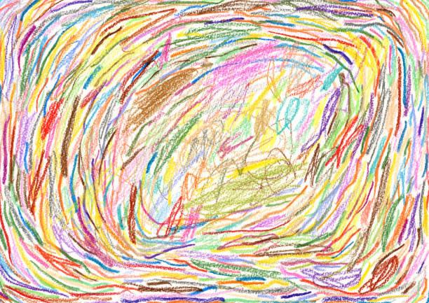 multi coloured crayon strokes background pattern - pastel stock illustrations