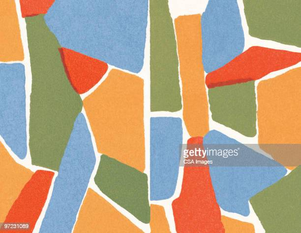 multi-color abstraction - mosaic stock illustrations