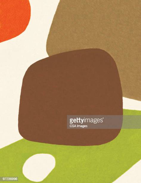 multi-color abstraction - colour block stock illustrations