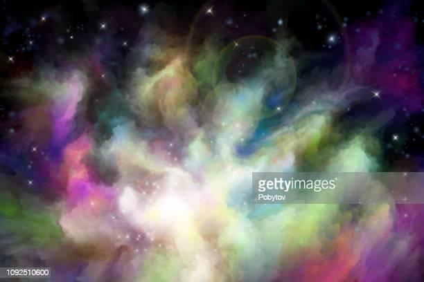 multicolored painted nebula