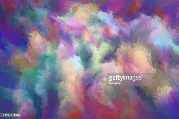 multicolored painted nebula - afterlife stock illustrations, clip art, cartoons, & icons