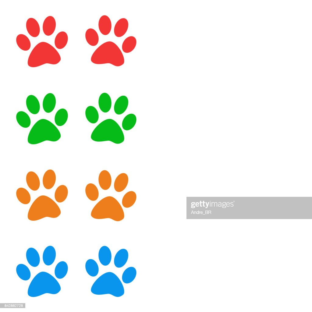 Multicolored Paw Print Animal Frame Stock Illustration | Getty Images