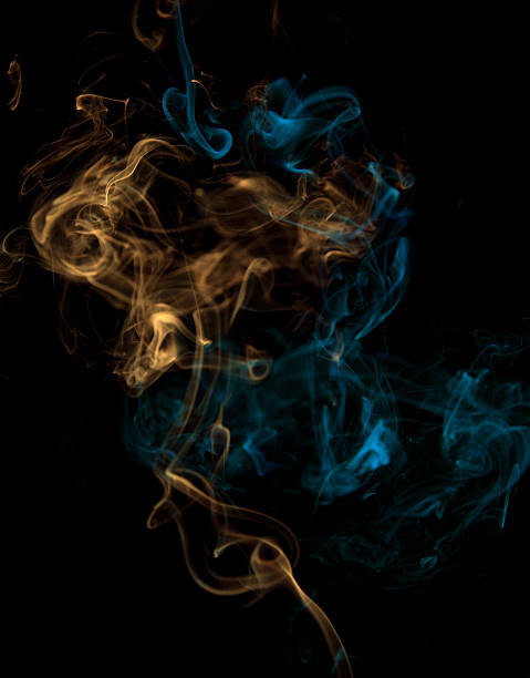 Multicolored smoke mixing