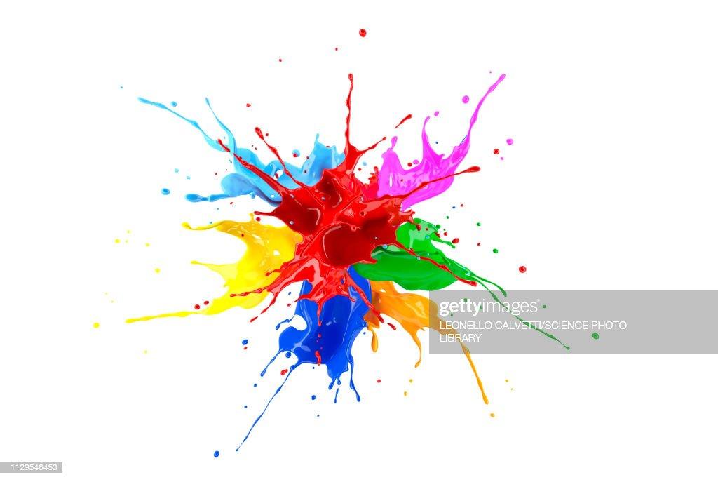 Multicolour paint explosion, illustration : Ilustração de stock