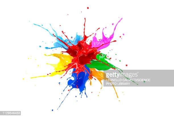 multicolour paint explosion, illustration - colors stock illustrations