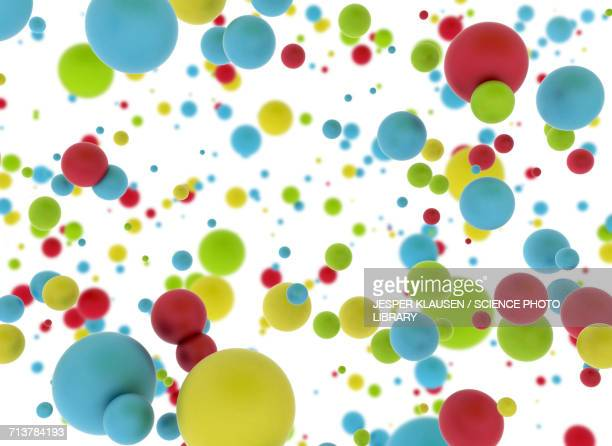 multicoloured spheres - large group of objects stock illustrations