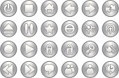 Multi-media icons-grey