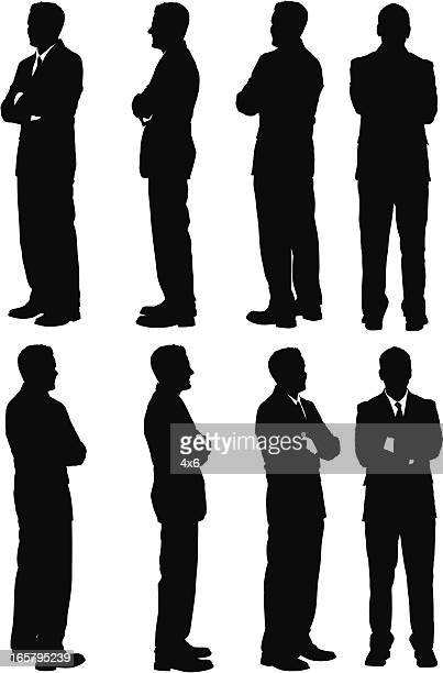 Multiple images of a businessman