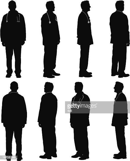 複数のイメージの医師 - 男性一人点のイラスト素材/クリップアート素材/マンガ素材/アイコン素材