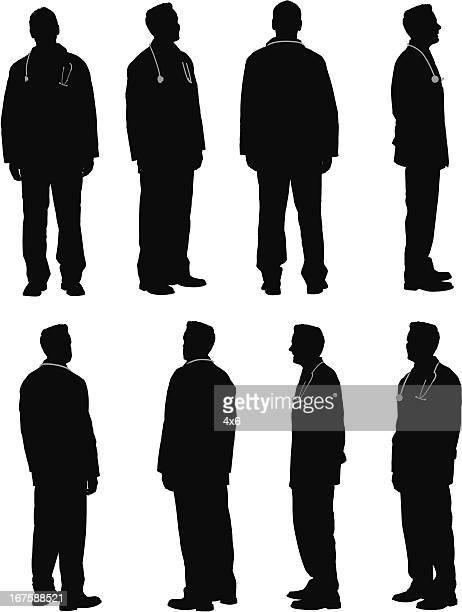 複数のイメージの医師、雄 - 白衣点のイラスト素材/クリップアート素材/マンガ素材/アイコン素材