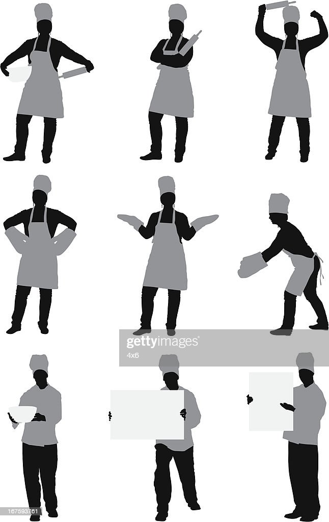 Multiple images of chef