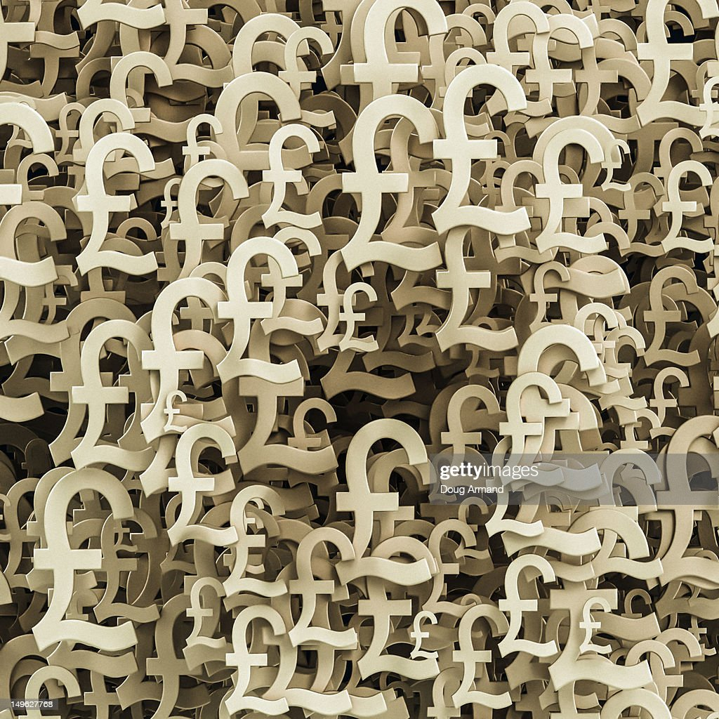Multiple Pound Sterling Currency Symbols Stock Illustration Getty