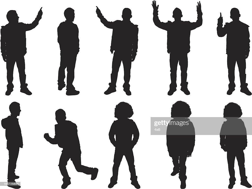 Multiple shots of men standing around