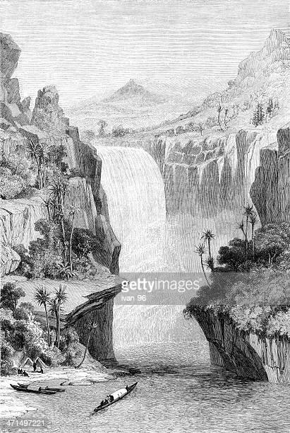 murchison falls - uganda stock illustrations, clip art, cartoons, & icons