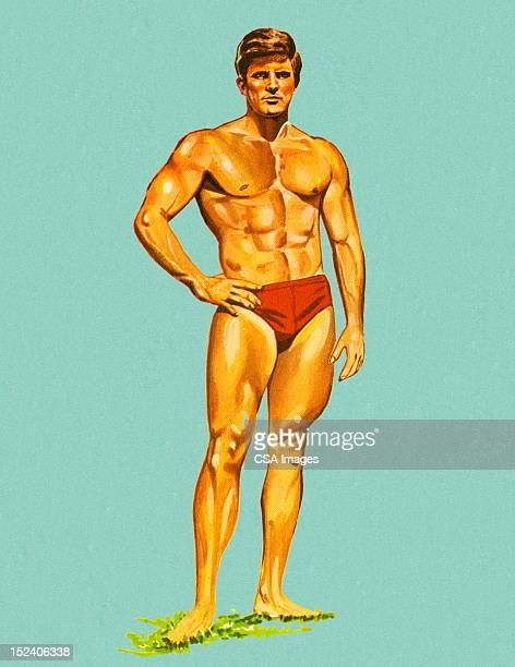 筋肉の男性イム Trunks