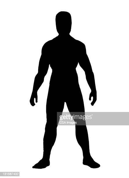 ilustraciones, imágenes clip art, dibujos animados e iconos de stock de muscular man - gradas
