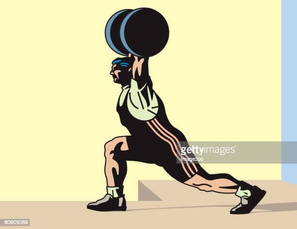 A muscular man weightlifting